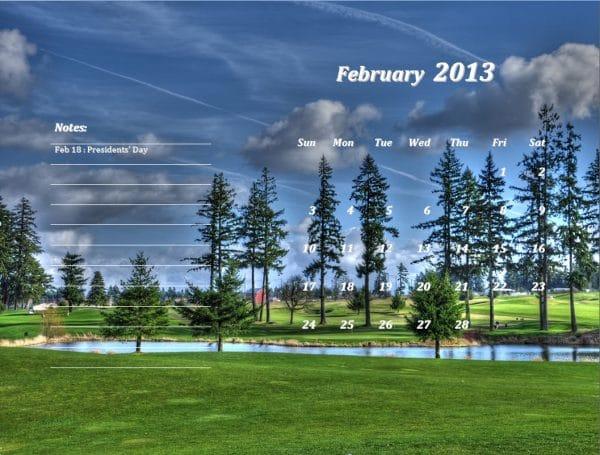February 2013 Calendar Template
