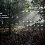 November 2013 Calendar Template