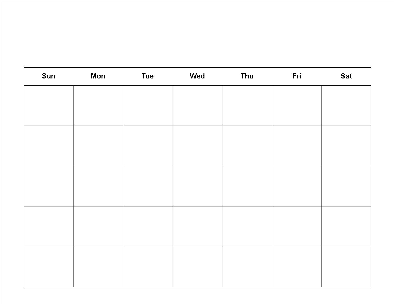 5 Day Schedule Template from calendartemplates.info